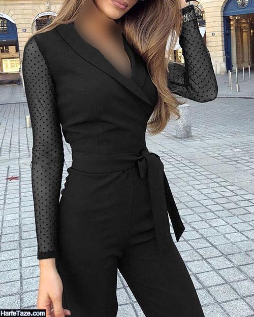 لباس سرهمی زنانه مشکی شیک