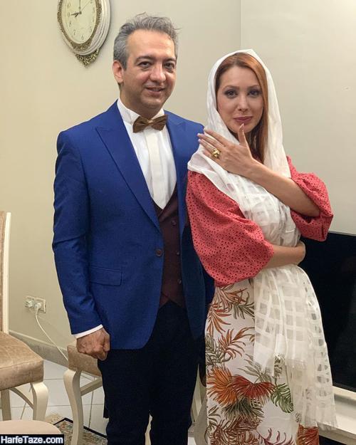 عکسهای ازدواج گلناز عباسی و بابک صحرایی ترانه سرا