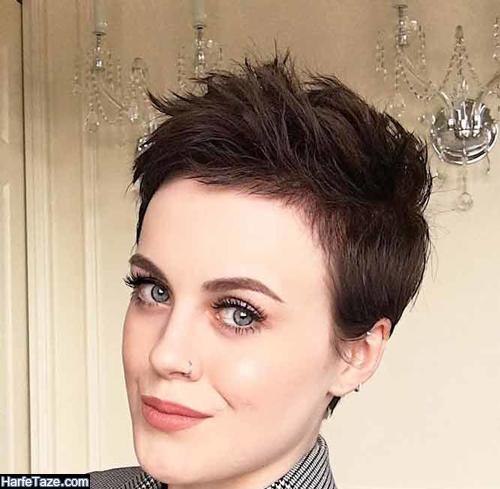 کوتاهی موی زنانه برای صورت های گلابی شکل