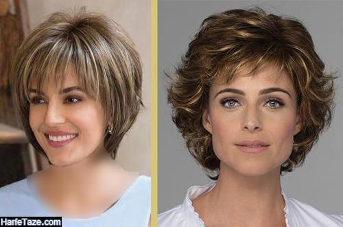 مدل کوتاهی موی زنانه برای صورت های مستطیل