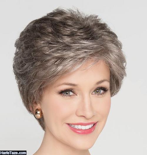 انواع مدلهای جدید کوتاهی مو برای زنان مسن
