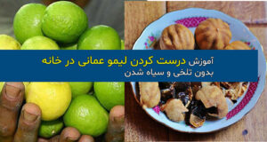 آموزش درست کردن لیمو عمانی خانگی بدون تلخی و سیاه شدن