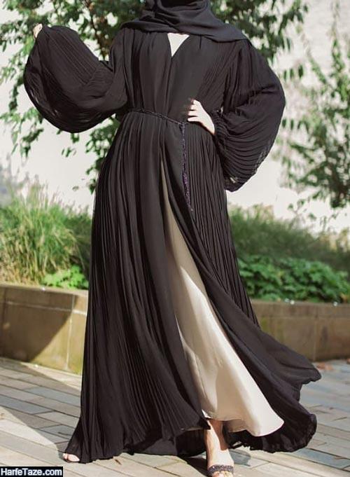 مدل مانتو مشکی | انواع جدیدترین مدل های مانتو مشکی زنانه ویژه محرم ۹۹