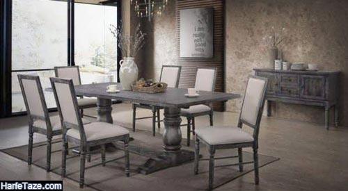 مدل میز ناهارخوری روستیک 2021