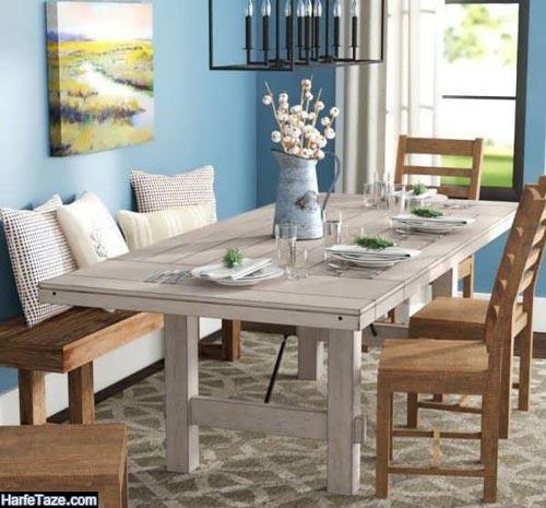 مدل میز ناهارخوری روستیک 1400