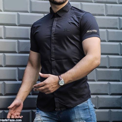 مدل پیراهن آستین کوتاه مردانه 99