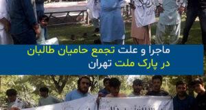علت تجمع حامیان طالبان در پارک ملت چه بود