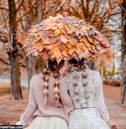 عکس دختر در هوای پاییزی