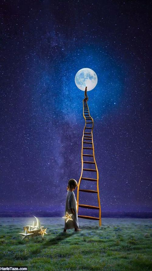 تصاویر ماه و ابر و آسمان شب