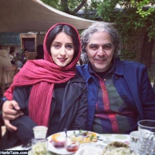 عکس دو نفره مهدی احمدی نقاش و بازیگر و همسرش