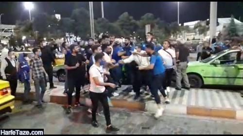 فیلم کتک کاری هواداران مشهدی با بازیکنان استقلال در فرودگاه مشهد