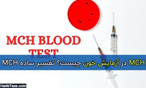 MCH در آزمایش خون چیست؟ تفسیر ساده MCH