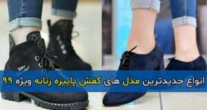 انواع جدیدترین مدل های کفش پاییزه زنانه ویژه ۹۹