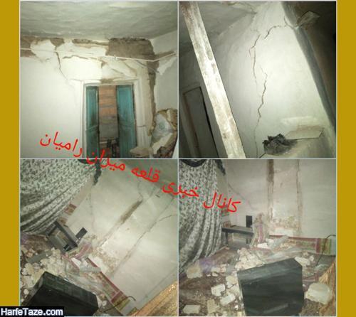 آخرین آمار مصدومان و خسارات زلزله 5.1 ریشتری رامیان گلستان 17 شهریور +تصاویر