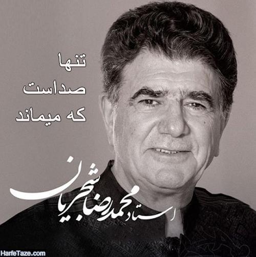 عکس های محمدرضا شجریان با اشعار ترانه های وی