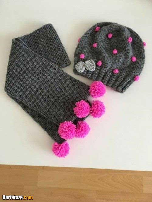 ست شال و کلاه زنانه ساده و شیک 2021