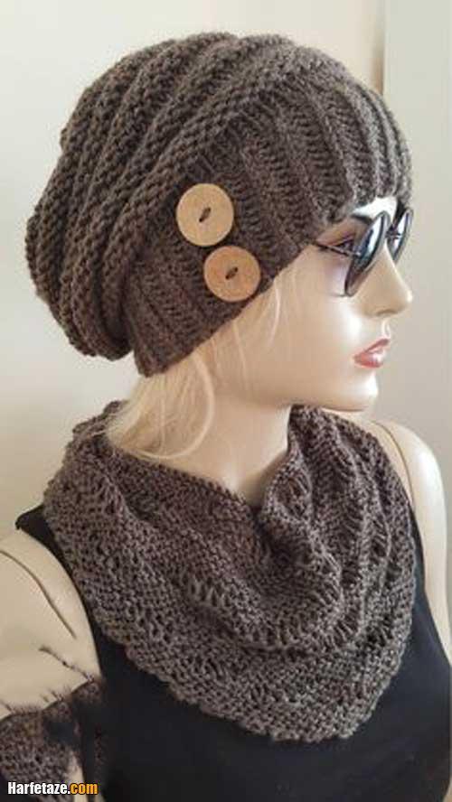 شال و کلاه زنانه 2021   انواع مدل جدید شال و کلاه کاموایی دخترونه و زنانه ۱۴۰۰