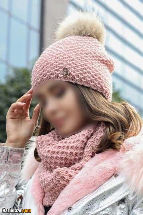 مدل های جدید شال و کلاه بافتنی برای پاییز و زمستان