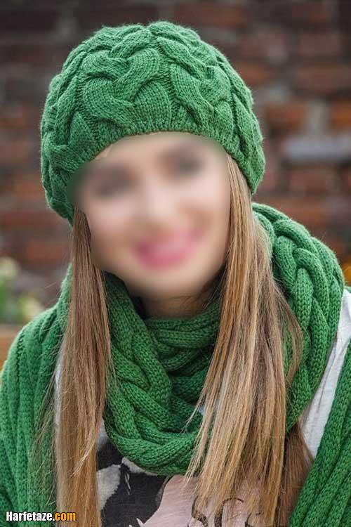 شال و کلاه زنانه 2021   انواع مدل جدید شال و کلاه کاموایی دخترونه و زنانه 1400