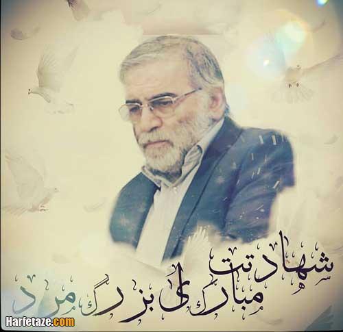 عکس نوشته شهادت محسن فخری زاده