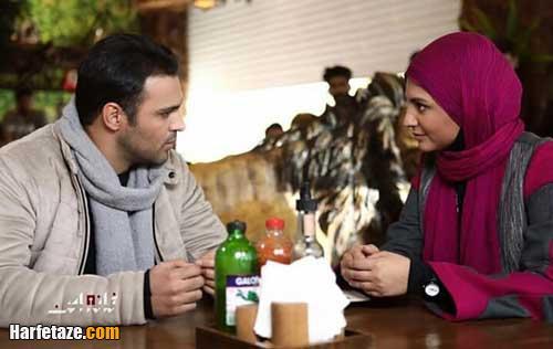 نیلوفر کوخانی بازیگر نقش تابان و سامان صفاری در نقش پیام در سریال خانه امن