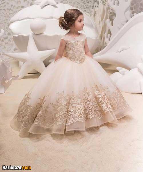 جدیدترین لباس عروس بچه گانه پرنسسی دخترانه