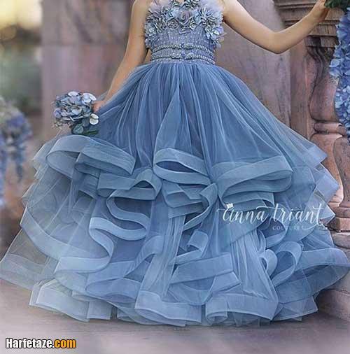 عکس لباس عروس بچه گانه پرنسسی