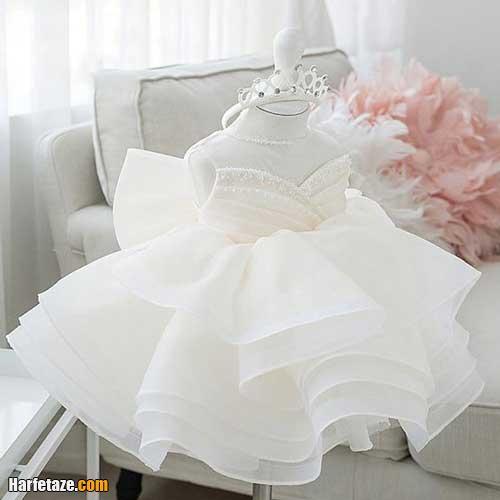 لباس عروس بچه گانه 2021 | جدیدترین مدل لباس عروس بچه گانه سفید و رنگی 1400