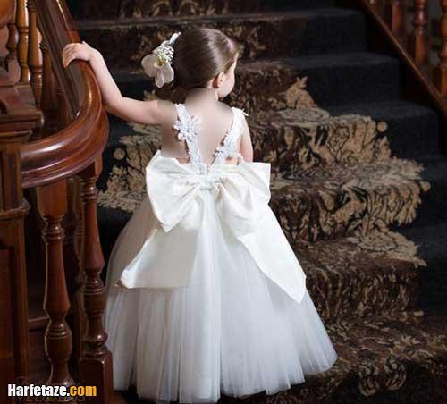 انواع جدیدترین مدل لباس عروس بچه گانه سفید و رنگی 2021