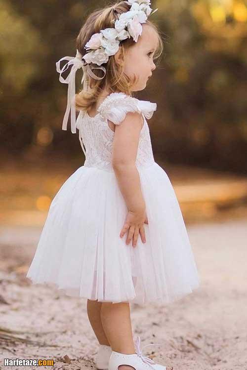 عکسی از لباس عروس بچه گانه سفید