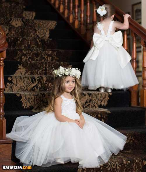 مدل لباس عروس بچه گانه مجلسی برای ساقدوش