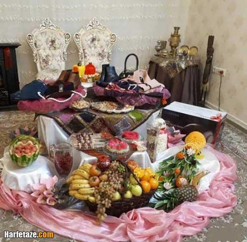 تزیین شب یلدا برای عروس جدید