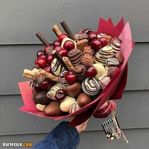 تزیین میوه به دسته گل برای چله