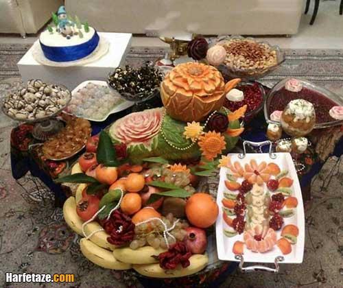 نمونه ای از تزیین کادوهای شب یلدا برای عروس