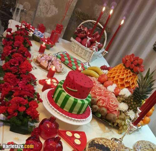 تزیین پشمک شب یلدای عروس