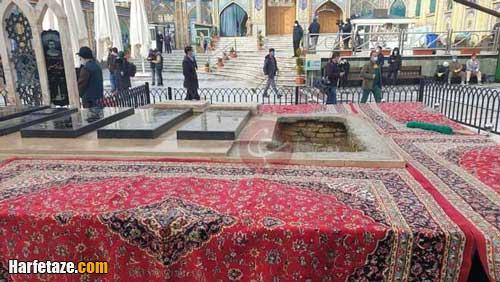 محل دفن شهید فخری زاده در امامزاده صالح تهران + تصاویر