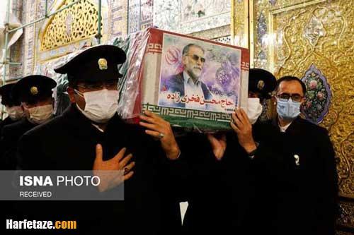 عکس و فیلم مراسم تدفین شهید فخری زاده در امامزاده صالح تهران + تصاویر
