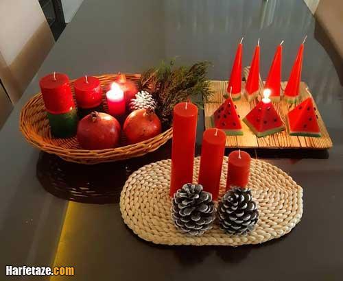 دیزاین میوه آرایی و گل آرایی میز شب یلدا