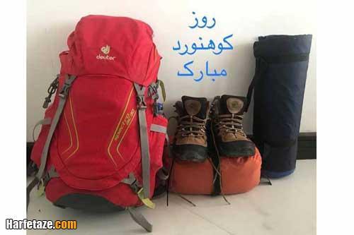 عکس همسر کوهنوردم روزت مبارک