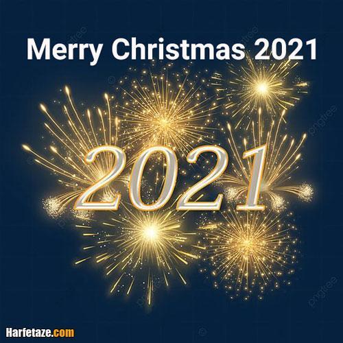 عکس نوشته پروفایل و متن تبریک کریسمس 2021