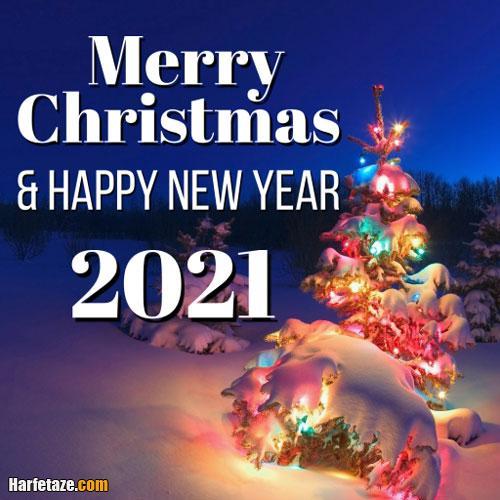 عکس نوشته پروفایل و متن تبریک کریسمس ۲۰۲۱