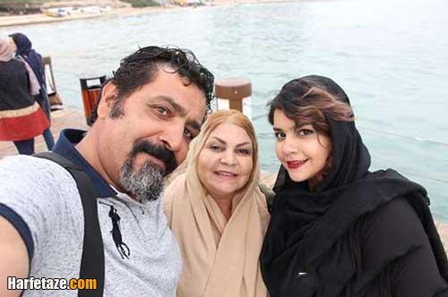 عکس همسر و دختر احمد کاوری