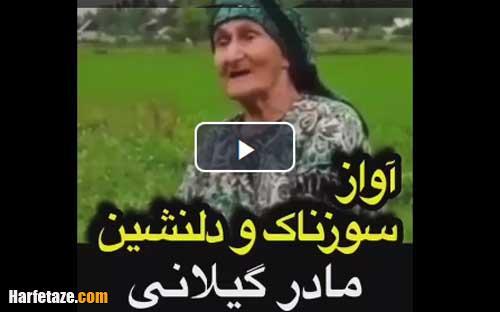 ویدئوی کامل آواز سوزناک مادر گیلانی در دشت با ترجمه