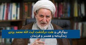 بیوگرافی و علت درگذشت آیت الله محمد یزدی + زندگینامه و همسر و فرزندان