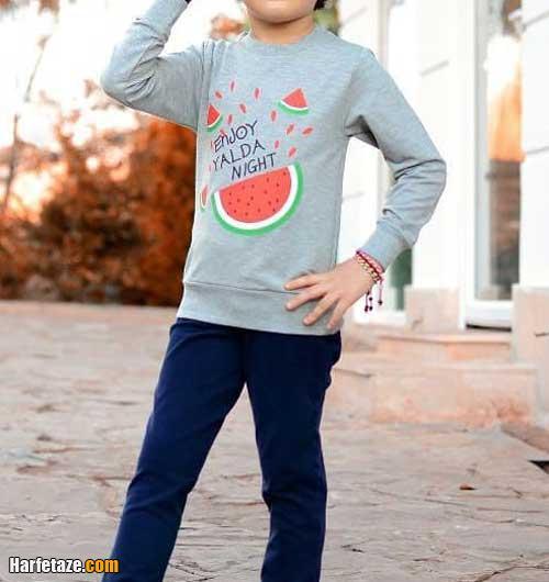 مدل تیشرت پسرانه با طرح هندوانه برای شب یلدا