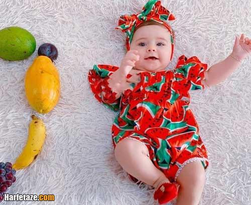 مدل جدید سرهمی نوزادی با طرح هندوانه