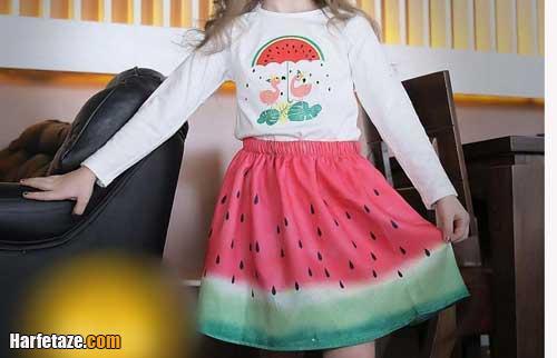 انواع جدیدترین مدل لباس شب یلدا بچگانه دخترانه