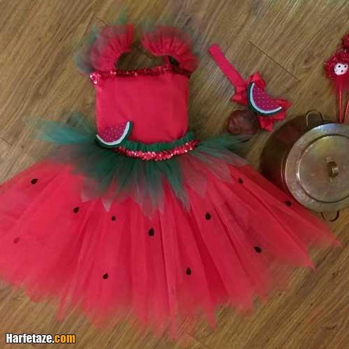 کالکشن پیراهن دخترانه با طرح هندوانه برای شب چله
