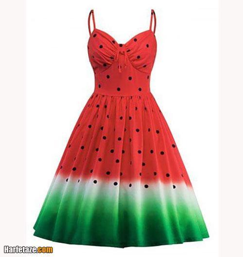 عکس از مدل پشومیز زنانه با طرح هندوانه