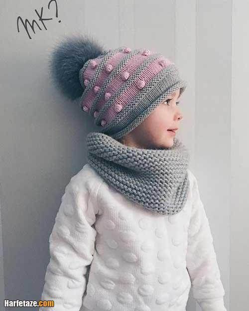 شال رینگی و گردنی و کلاه زمستانی پسرانه